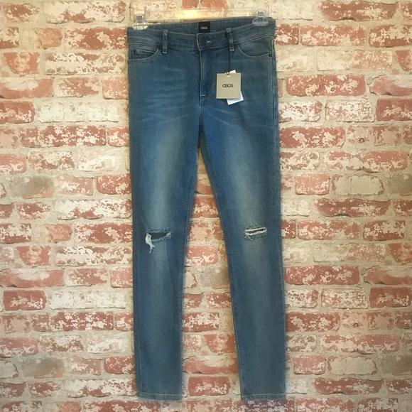 ASOS Denim - NEW ASOS High Rise Skinny Jeans Light Wash